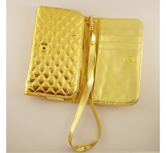 NEW Gold purse quilted faux leather, Ideal for Party nights or as a Bridal accessory