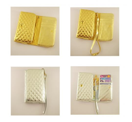 NEW Silver and Gold purses, quilted faux leather, Ideal for Party nights or as a Bridal accessory