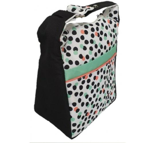 12 x Snap Over Insulated Spotty Lunch Cooler Bag