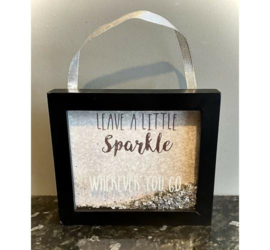George Home 'Leave a Little Sparkle' Block Frame