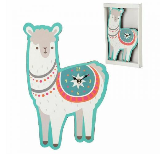 Fun Novelty Llama Shaped Animal Picture Wall Hanging Clock - 8 Units 1 Lot Only