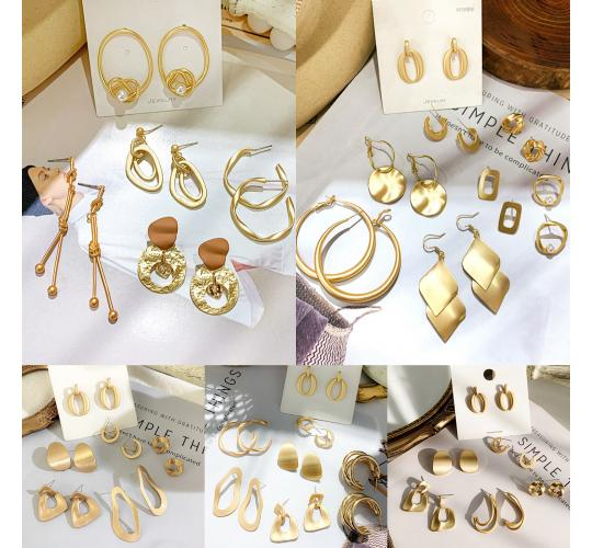 Stylish Earring 9 styles, Earring set, Earrings, 2 pairs of each style, 18 pairs per joblot