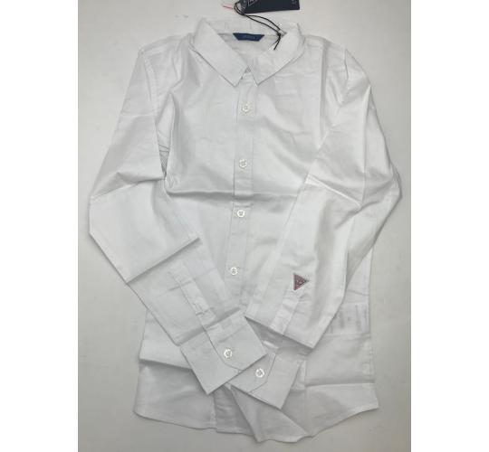 One Off Joblot of 4 Guess Childrens Unisex White Dress Shirts with Arm Branding