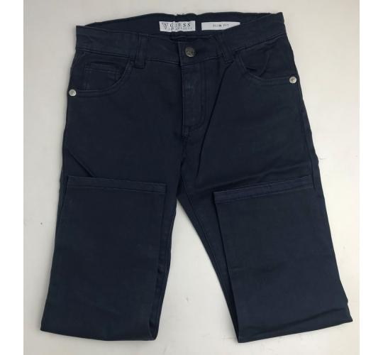 One Off Joblot of 8 Guess Boys Slim Fit Navy Trousers Sizes 3-6