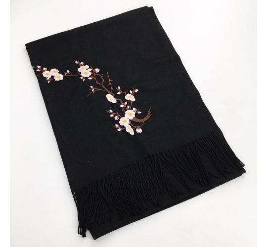 Cashmere Blend Embroidery Scarf 60 Pcs