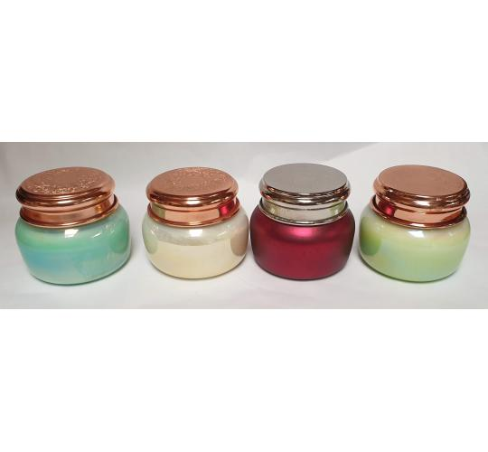 17oz Scented Candle in Pearlised Jar Mixed Box of 16 Candles Four Different Scents
