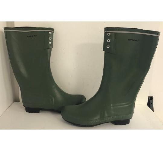 One Off Joblot of 9 Viking Mens Green Wellington Boots Sizes 10-13