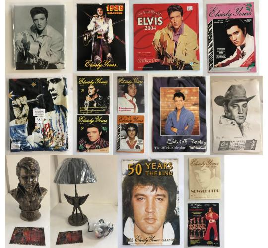 Pallet of 5162 Official Elvis Stock - Calendars, Magazines, Figurines P1
