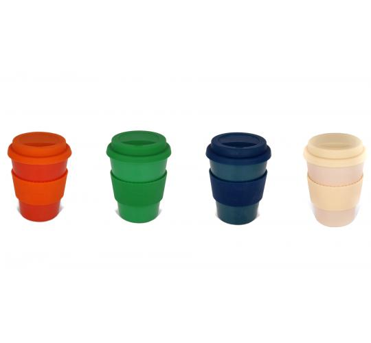 Eco Reusable Bamboo Coffee Cups - 84 pack - 350ml - RRP £7 each