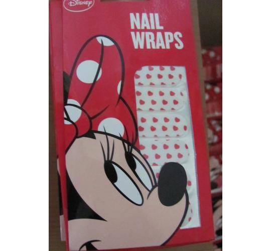 150 Packets of White Minnie mouse Nail wraps. False nails. Genuine Disney
