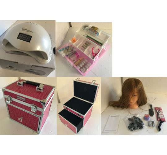 One Off Joblot of 21 Mixed Beauty Stock - Vanity Cases, LED/UV Lamps & More