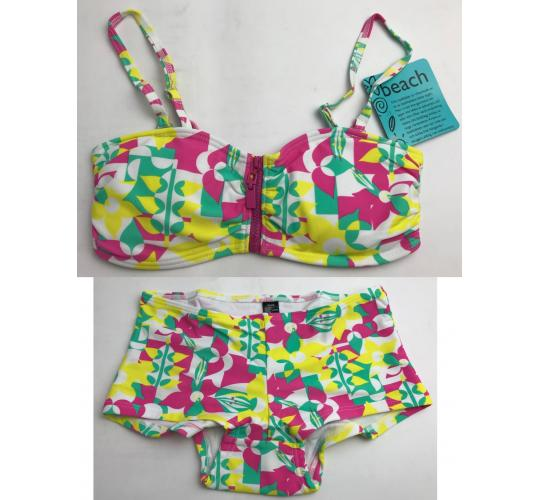 One Off Joblot of 43 Ellos Colourful Flower Print Swimwear - Tops & Bottoms