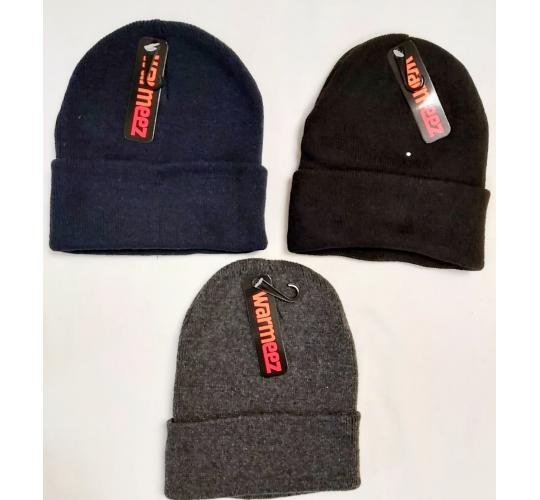 Joblots winter warm beanie hats 3 colors available x 24