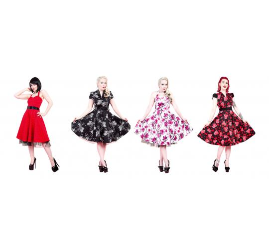 Ladies Vintage Retro 1950's H & R London Repro Mixed Dresses sizes 8 - 18