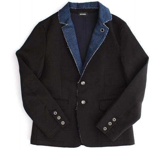 One Off Joblot of 4 Diesel Kids Stylish Black Blazer Jackets Sizes 8-14