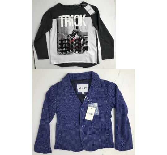 One Off Joblot of 4 Aygey Boys Clothing in 2 Styles - Blazer Jackets & Top