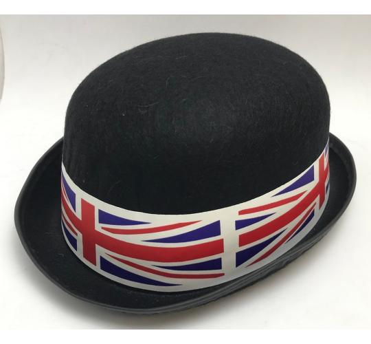 One Off Joblot of 229 Plastic Union Jack Bowler Hats - Black