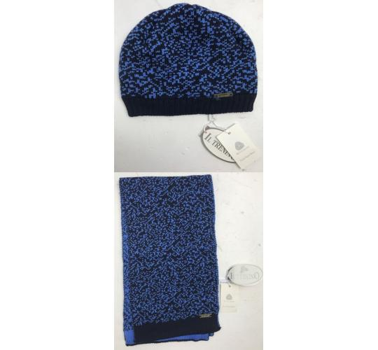 One Off Joblot of 8 IL Trenino Kids Navy/Blue Pure New Wool Hats & Scarves