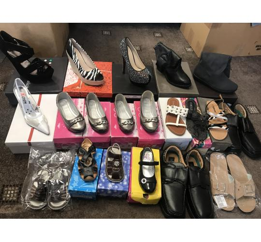 Wholesale Job lot 2 Ladies Kids Mixed Shoes 20 Pairs Mix Sizes