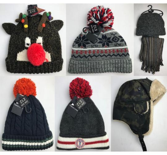 Wholesale Joblot of 20 Ex-Chain Store Adults Winter Accessories - Hats & Scarfs