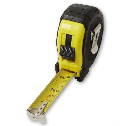 Tape Measure 5M/16ft Tool Tech Measurement Lock Mechanism Metre Cm Inch