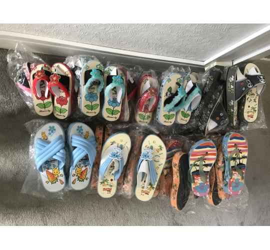 Wholesale Job lot 7 Ladies Kids Mixed Shoes 33 Pairs Mix Sizes SALE
