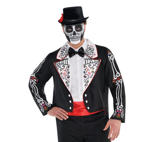Wholesale Joblot of 20 Amscan Day of the Dead Tailcoat for Fancy Dress