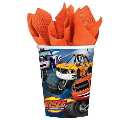 Wholesale Joblot of 50 Amscan Blaze Monster Machines Party Cups (Pack of 8)