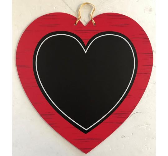 Wholesale Joblot of 24 Amscan Heart-Shaped Chalkboard Sign 33.4cm x 33cm