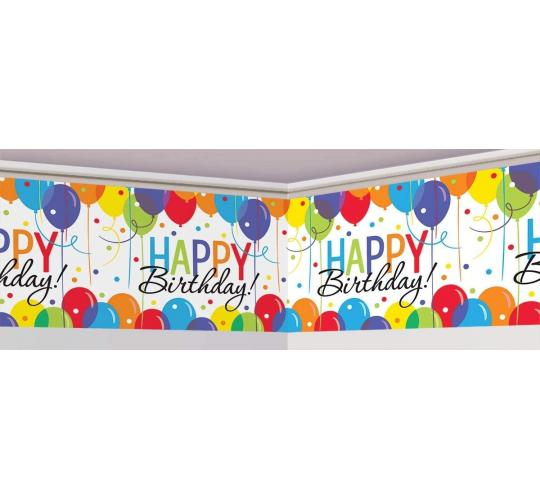 One Off Joblot of 8 Amscan Giant Happy Birthday Banner Roll 40ft Long