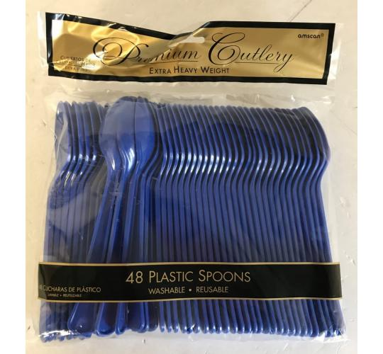 Wholesale Joblot of 20 Amscan Heavy Weight Reusable Plastic Spoons (Pack of 48)
