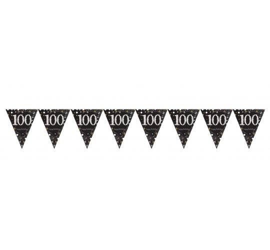 Wholesale Joblot of 50 Amscan 100th Birthday Bunting Flag Banner 4m