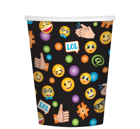 Wholesale Joblot of 50 Amscan LOL Emoji Paper Party Cups 266ml (Pack of 8)