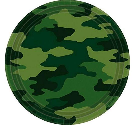 "Wholesale Joblot of 48 Amscan Camouflage Army Paper Party Plates 9"" (Pack of 8)"