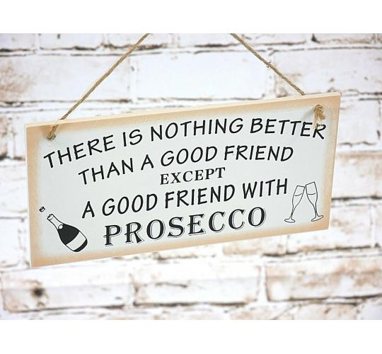 Joblot Of Novelty Wooden Friendship Prosecco Hanging Plaque Friend Gift Retro Keepsake x25