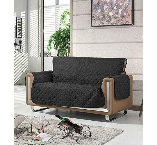 Joblot of 3 Seater Black Washable Sofa Couch Quilted Cover Pet Protector Sofa Seat Throw Chair Furniture