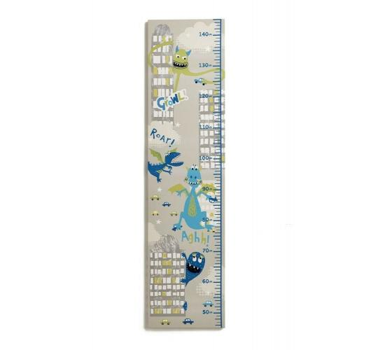Arthouse Monster Madness Height Chart 25cm x 100cm Childrens Kids Bedroom Wall - 10 Units Per Lot