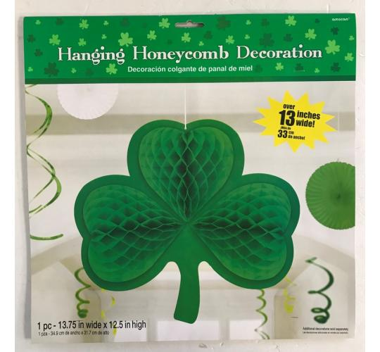 Wholesale Joblot of 30 Amscan Hanging Honeycomb Shamrock Decoration Over 13""