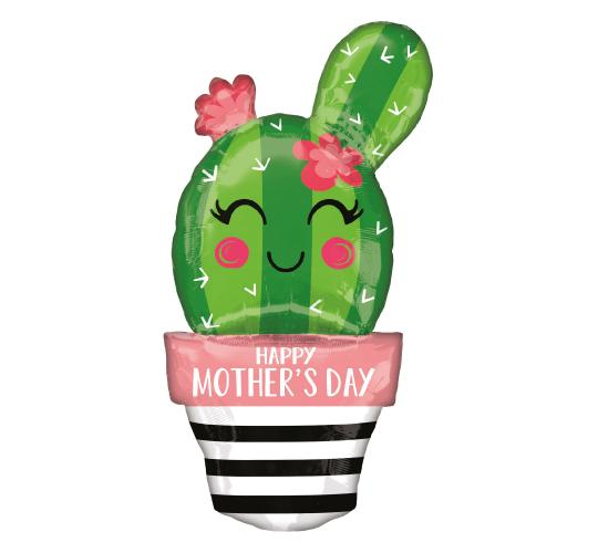 Wholesale Joblot of 30 Amscan Anagram Mother's Day Cactus Foil Balloon 35""