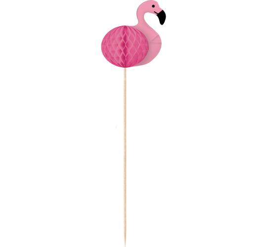 Wholesale Joblot of 50 Amscan Flamingo Decorative Picks Wood 18cm (Pack of 10)