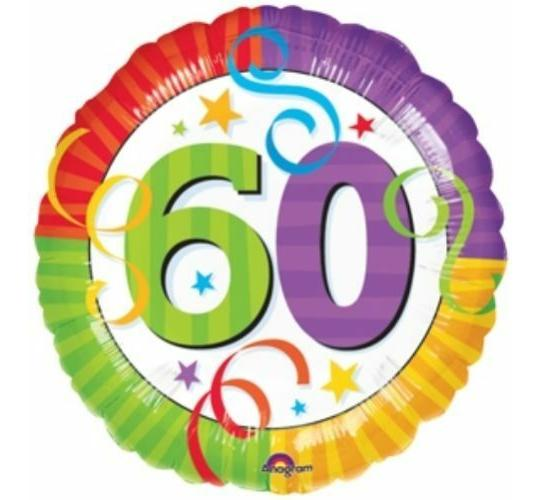 Wholesale Joblot of 50 Amscan 60th Birthday/Anniversary Foil Balloon 17""
