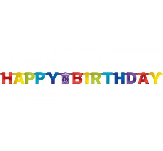 Wholesale Joblot of 30 Amscan Colourful Happy Birthday Letter Banner 7ft