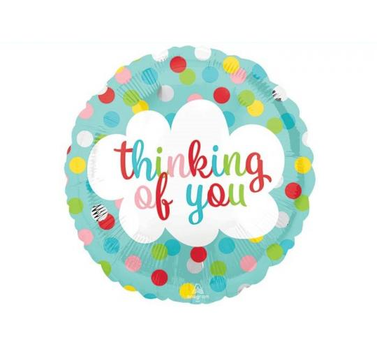 Wholesale Joblot of 100 Amscan Anagram Thinking of You Foil Polka-Dot Balloons 9""