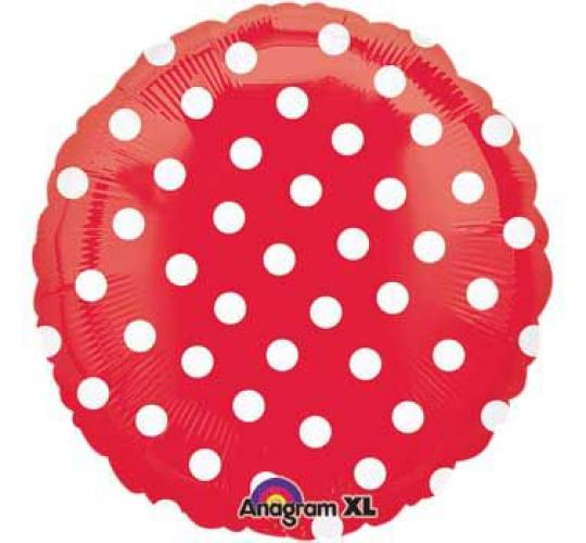 Wholesale Joblot of 100 Amscan Anagram Red Polka Dot Foil Balloons 16.5""