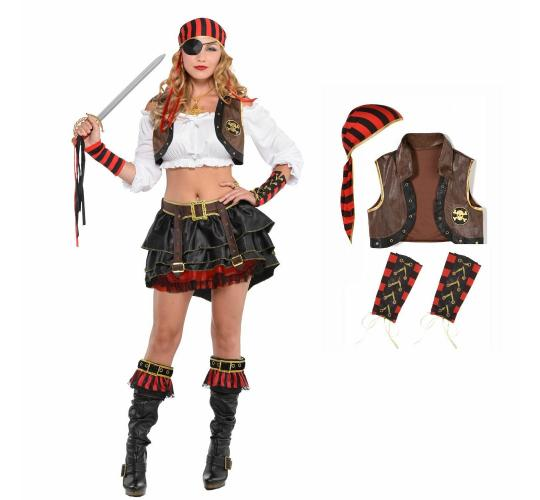 Wholesale Joblot of 12 Amscan Pirate Swashbuckler Kit for Fancy Dress Womens