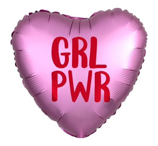 Wholesale Joblot of 40 Amscan Anagram GRL PWR Satin Luxe Foil Balloon 18""