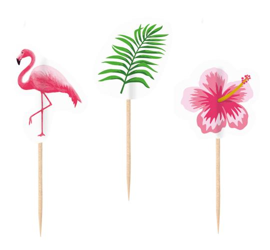 Wholesale Joblot of 40 Amscan Flamingo Tropical Party Picks 8cm (Pack of 20)