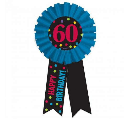 Wholesale Joblot of 30 Amscan 60th Birthday Award Ribbon Party Badge