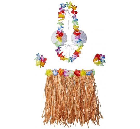 Wholesale Joblot of 18 Amscan Hula Skirt Kit Adults (5 Piece Kit)