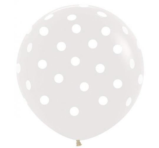 Wholesale Joblot of 30 Packs of 2 Amscan Crystal Clear Polka Dot Balloons 36""